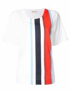 Marni striped short-sleeve T-Shirt - White