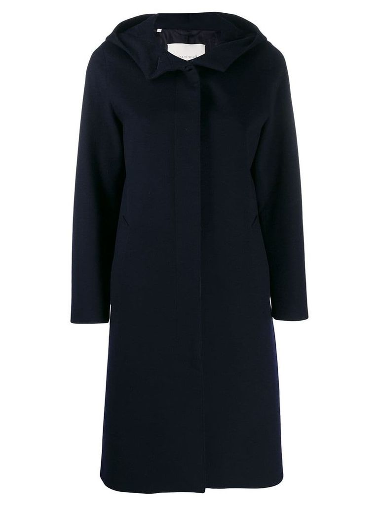 Mackintosh CHRYSTON Navy Storm System Wool Hooded Coat LM-1019F - Blue