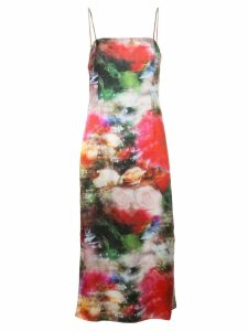 Adam Lippes floral tie-dye dress - Multicolour
