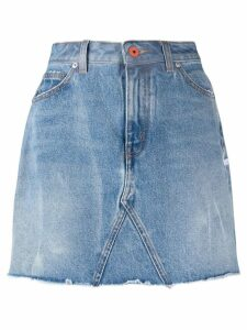 Heron Preston fitted denim skirt - Blue