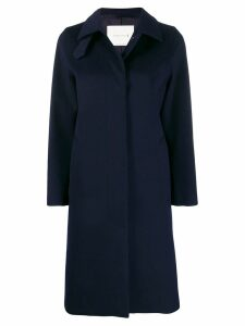 Mackintosh DUNKELD Navy Storm System Wool 3/4 Coat LM-1018F - Blue