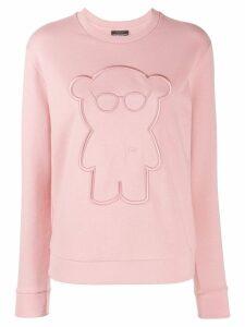 Emporio Armani embroidered sweatshirt - Pink
