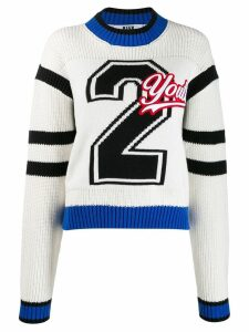 MSGM Youth patch jumper - White