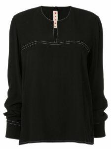 Marni long-sleeve flared blouse - Black