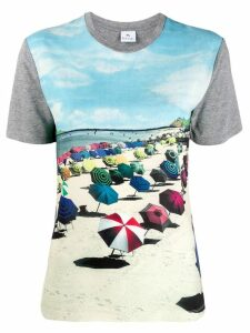 PS Paul Smith beach print T-shirt - Blue