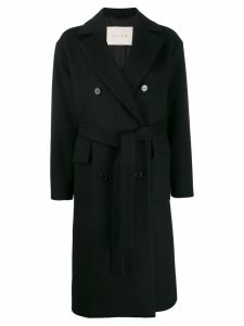 Mackintosh LAURENCEKIRK Black Wool & Cashmere Double Breasted Coat