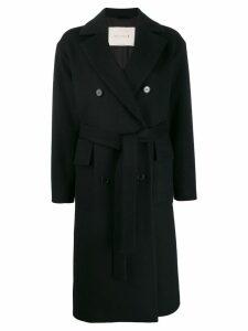 Mackintosh LAURENCEKIRK Black Wool & Cashmere Double Breasted Coat