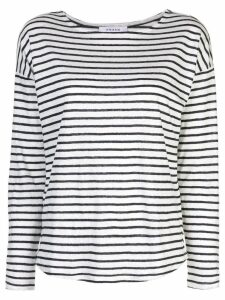 FRAME long sleeve striped top - White