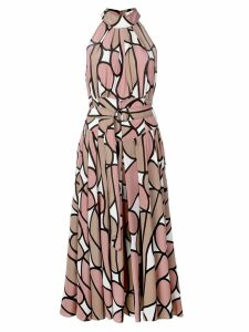 Diane von Furstenberg printed midi dress - Brown
