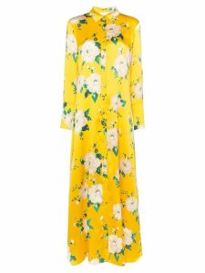 We Are Leone floral shirt-style maxi dress - Yellow