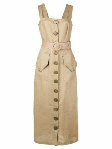Nicholas belted day dress - Brown
