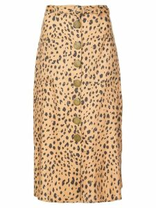 Nicholas leopard print skirt - Brown