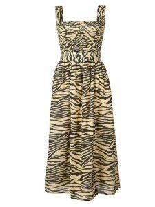 Nicholas zebra print dress - Brown