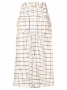 Nicholas tartan skirt - White