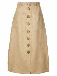 Nicholas buttoned skirt - Brown
