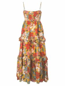 Nicholas floral day dress - Orange