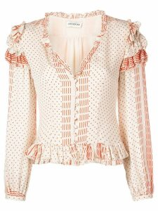 Nicholas polka dot blouse - White