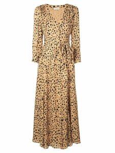 Nicholas leopard print day dress - Brown