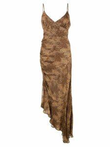 Nicholas silk evening dress - Brown