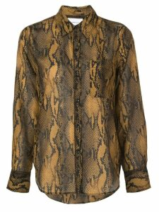 Current/Elliott snakeskin print shirt - Brown