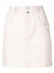 Current/Elliott leopard print denim skirt - Pink
