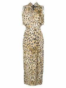 Prada leopard print dress - Brown
