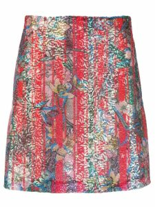 Golden Goose floral embroidered skirt