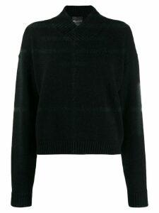 Erika Cavallini v-neck sweater - Black