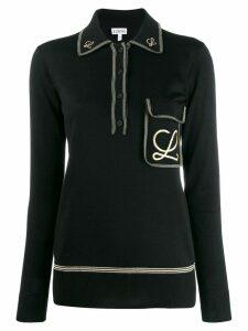 Loewe embroidered L polo shirt - Black