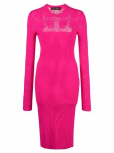 Versace fitted knitted dress - Pink