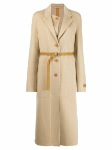 Helmut Lang classic single-breasted coat - Neutrals