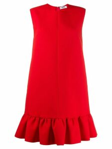MSGM peplum hem shift dress - Red
