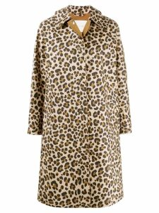 Mackintosh FAIRLIE Leopard Print Bonded Cotton Coat LR-079 - Neutrals