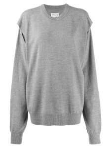 Maison Margiela split seam jumper - Grey
