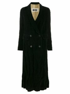 Uma Wang long double-breasted coat - Black