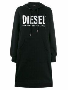 Diesel logo print sweat dress - Black