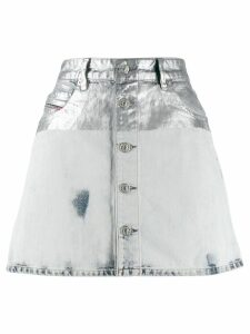 Diesel metallic coated denim skirt - Grey