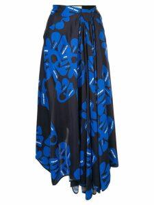 Nina Ricci floral print skirt - Black