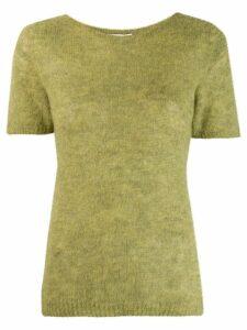 Société Anonyme short sleeve knitted top - Green