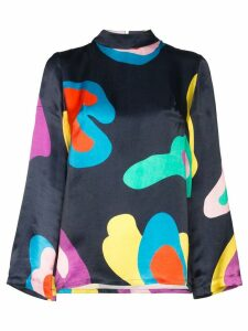 Mira Mikati abstract print long sleeve blouse - Blue