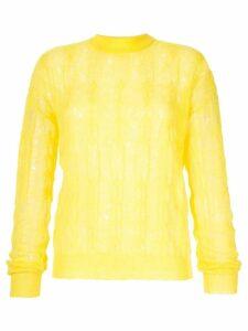 Nina Ricci cable knit jumper - Yellow