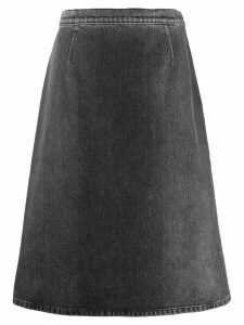 Prada A-line denim skirt - Grey