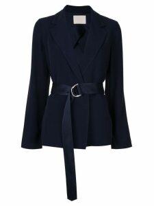 Dion Lee wrap style blazer - Blue