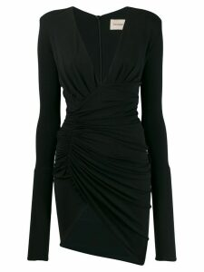 Alexandre Vauthier fitted plunge mini dress - Black
