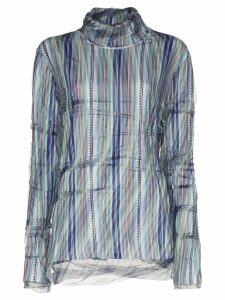 Y/Project abstract stripe double-layer top - Blue