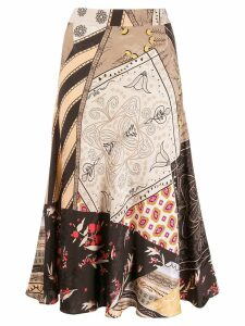 Etro floral patchwork skirt - Black