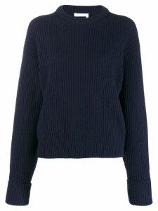 Chloé ribbed knit sweater - Blue