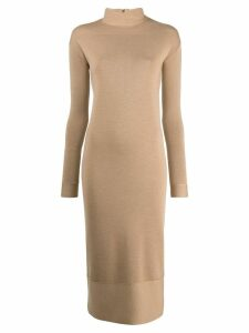 Agnona fitted sweater dress - Brown