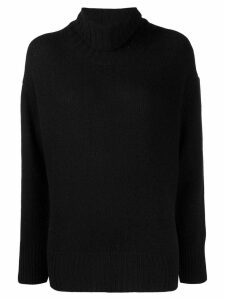Woolrich knitted roll neck jumper - Black