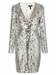 Aidan Mattox fitted sequin dress - Silver